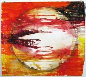 The Sun, tec.mista su tela, arazzo cm 220 x 240, 2011